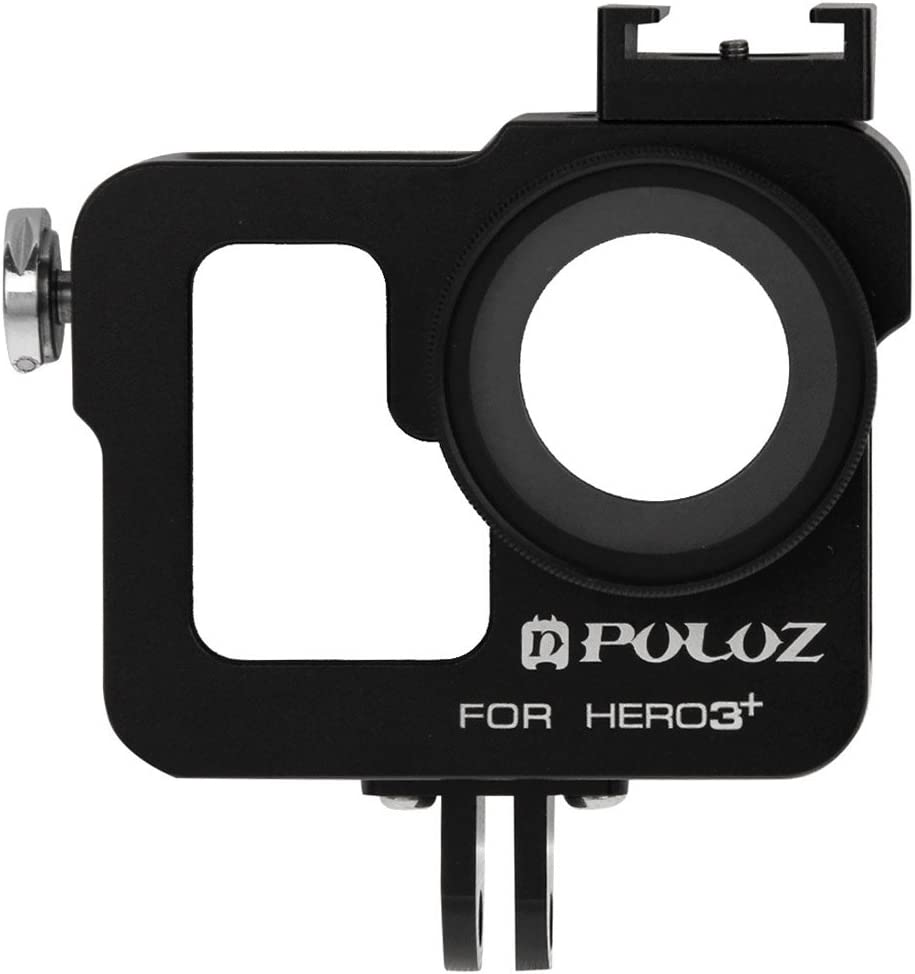 Color : Black for DJI Gopro Action Camera Housing Shell CNC Aluminum Alloy Protective Cage with 37mm UV Lens Filter /& Lens Cap for GoPro HERO3+ //3 Black