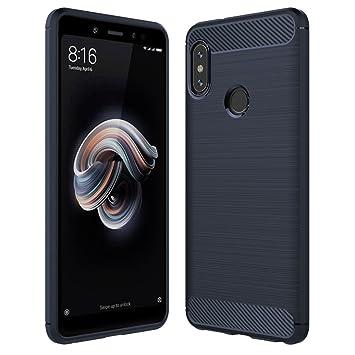 Anjoo Funda Compatible con Xiaomi Redmi Note 5, Carcasa Suave TPU Silicona Carcasa Conchoques Protectora, antichoque, Carcasa con Fibra de Carbono, ...