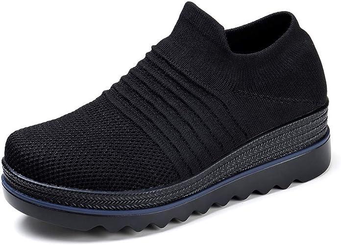 Loafer Flats Slip On Platform Shoes