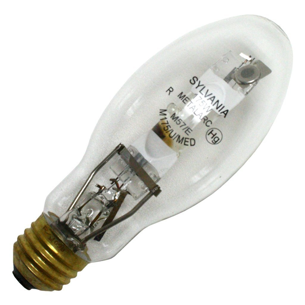 (case of 6) Sylvania 64479 - M175/U/MED 175 watt Metal Halide Light Bulb