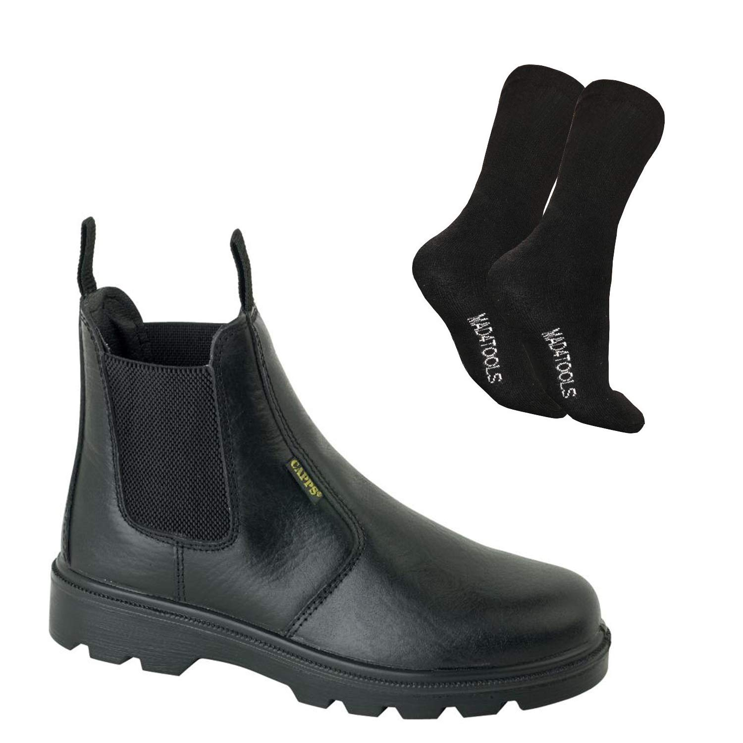 94dd556d6ee LH829 Dealer Safety Boots & mad4tools Work Socks: Amazon.co.uk ...