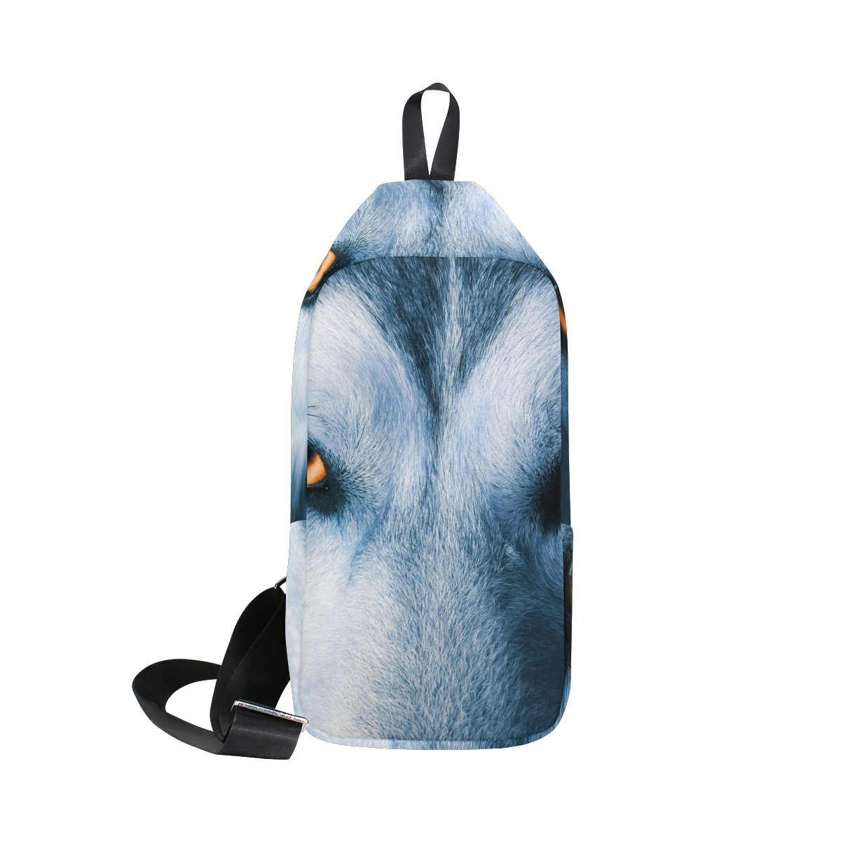 4db41e1d2e02 Amazon.com | LORVIES Eyes Of Wolf Sling Bag Shoulder Chest Cross ...