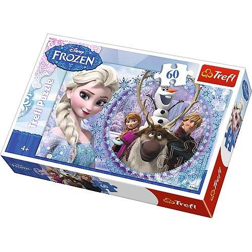 Trefl Disney Frozen Friends From The Frozen Land Puzzle (60 Pieces) (Special Parts 60 Piece)