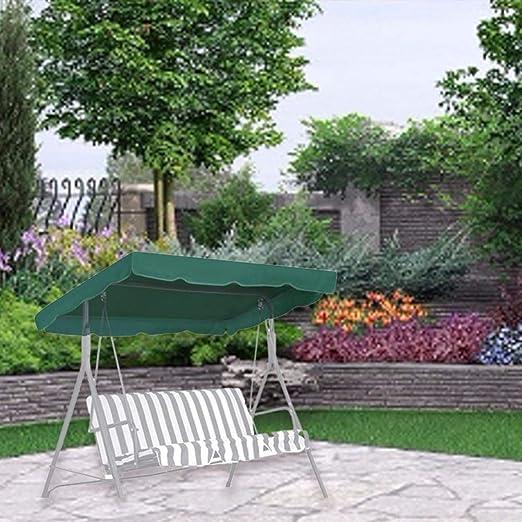 Glossrise Cubierta Superior Impermeable de Repuesto para toldo de Columpio para jardín, Patio, Porche, Patio: Amazon.es: Jardín
