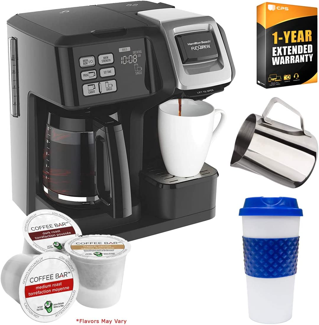 Hamilton Beach 49976 FlexBrew 2-Way Coffee Maker (Black) with Deco Gear Kitchen & K-Cups Bundle