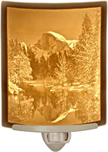 Half Dome at Yosemite- Curved Porcelain Lithophane Night Light