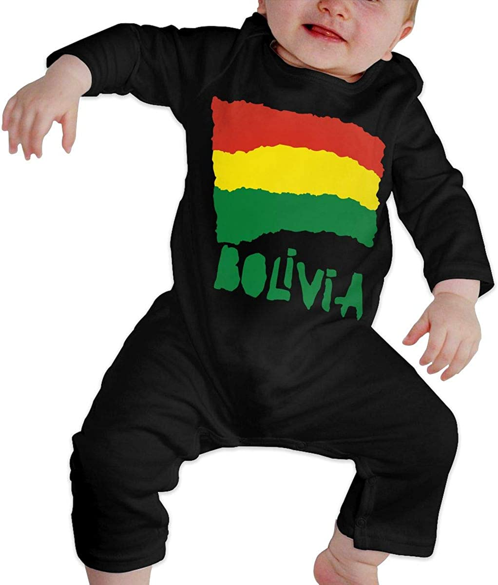 Bolivia Flag Organic One-Piece Kid Pajamas Clothes BKNGDG8Q Unisex Baby Romper Jumpsuit