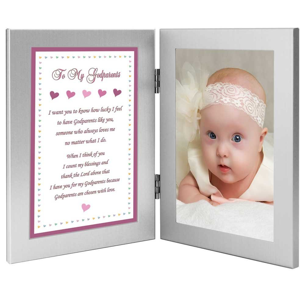 Godparents Gift from Goddaughter Baptism or Thank You Poem Add Photo