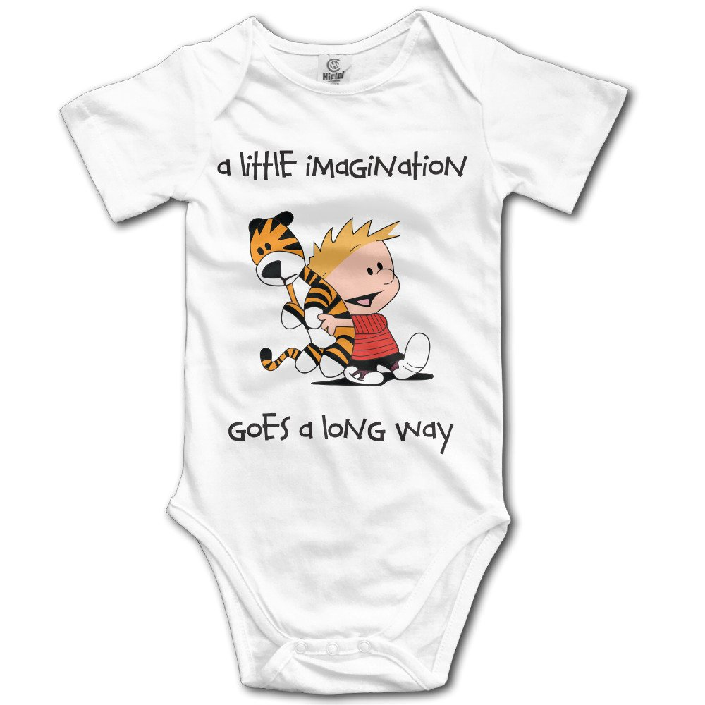 Bob Daph Unisex Calvin and Hobbes Together Comic Strip Baby Onesies Outfits Sleepwear