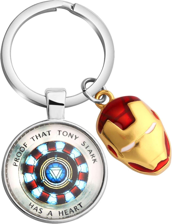 The Avengers Endgame Superhero Iron Man Mask Pendant Necklace Metal Alloy Marvel Movie Jewelry Graduation Gift Friend