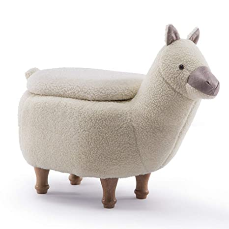 Surprising Amazon Com Jun Animal Alpaca Storage Stool Ottoman Ncnpc Chair Design For Home Ncnpcorg