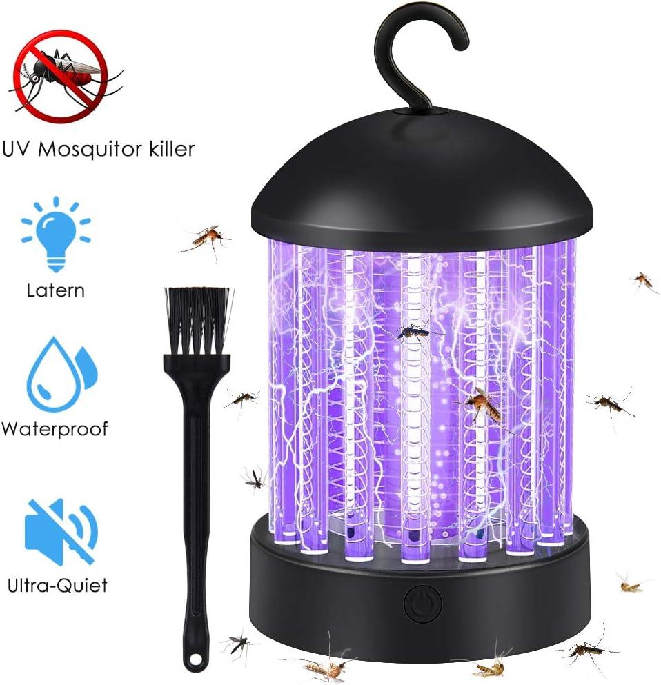 Hisome Lámpara Antimosquitos, Portátil 2 en 1 Lámpara Camping y Noche Lámpara LED Luce UV Mosquitera Eléctrica USB Recargable Silencioso contra Mosquitos Polillas Zancudos Moscas y Mas Insectos