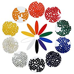 eBoot Water Crystal Beads Water Growing Balls Jelly Crystal Balls Vase Filler Beads for Wedding and Home Decoration, 10 Colors, 40 Pack