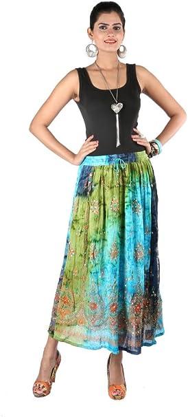 Indiankala4U - Falda - Mujer multicolor Multicolor 60 Más: Amazon ...