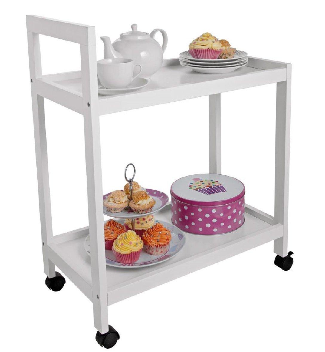 HOME Tea Trolley - White Choicefullbargain
