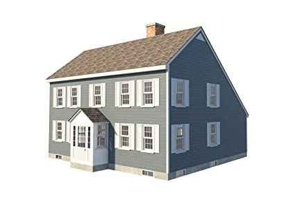 Traditional Saltbox House Plans Two Story Colonial Home