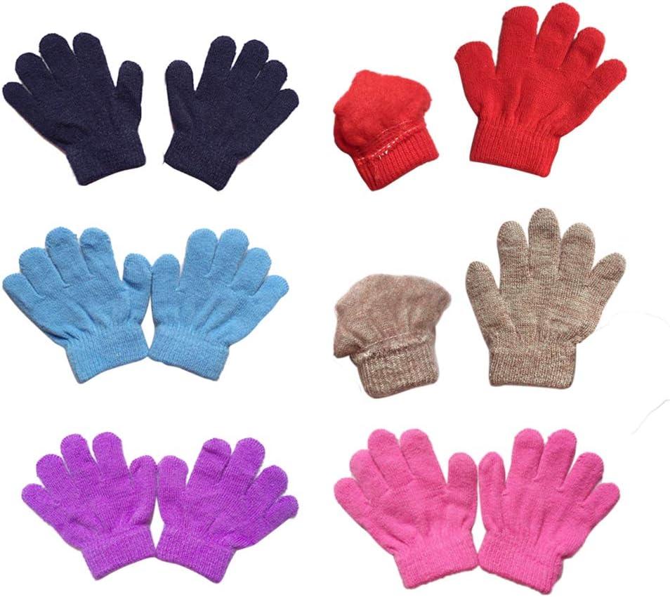 Kinder Warm Handschuhe F/ünf Finger gestrickte Handschuhe Schreiben Handschuhe Lispeed Magic Gloves Kinderhandschuhe