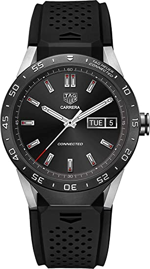 78927f458f8 TAG Heuer CONNECTED Luxury Smart Watch (Compatible with Android iPhone)  (Black)
