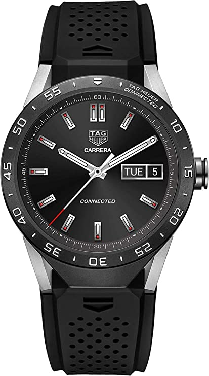 ecd197f21d TAG Heuer CONNECTED Luxury Smart Watch (Compatible with Android/iPhone)  (Black)