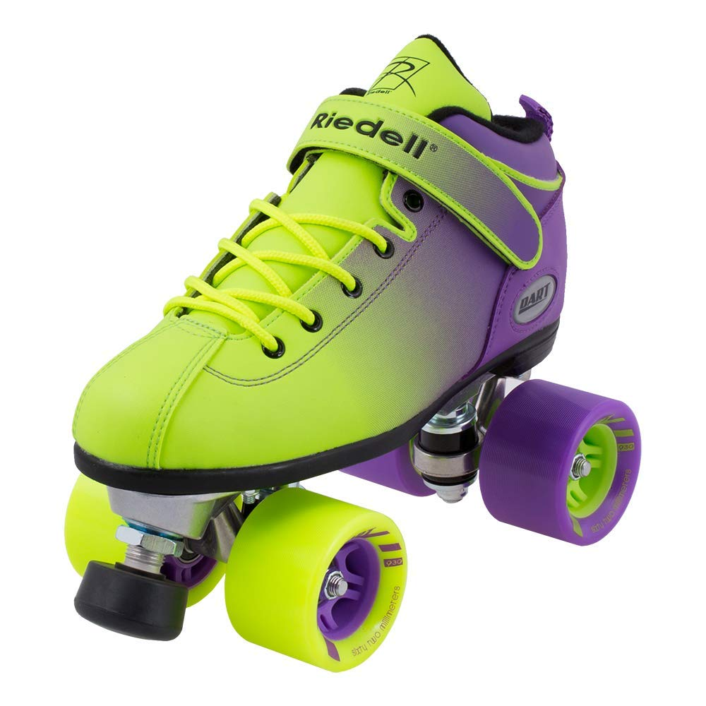 Riedell Skates - Dart Ombré - Quad Roller Speed Skate | Purple & Green | Size 1