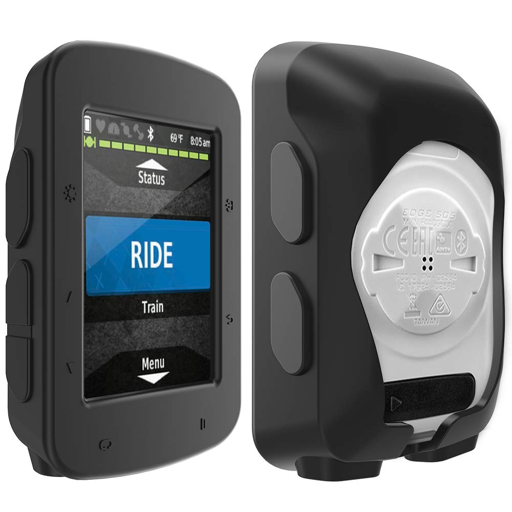 TUSITA Funda para Garmin Edge 520 Plus Negro Cubierta Protectora de Silicona Accesorios de computadora para Bicicleta GPS