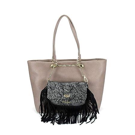 Borsa Donna Shopping Grande con Pochette Davanti  ca17cccf2d5