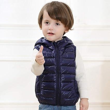 Gaozh Chaqueta Chalecos Plumas De Niño Niña Abajo Jacket ...