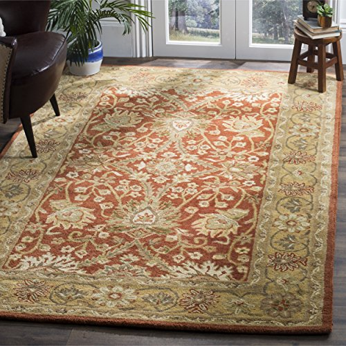 Safavieh Antiquities Collection AT249C Handmade Traditional Oriental Rust and Gold Wool Area Rug (4