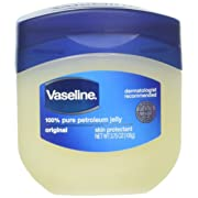 Vaseline 100% Pure Petroleum Jelly Skin Protectant 3.75 oz (Pack of 2)
