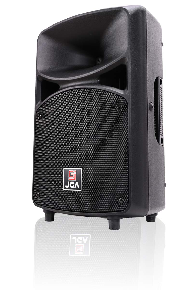 Active PA Speaker System Compact and Portable DJ Speakers 8 Inch Woofer with Bluetooth MP3/SD/FM/Remote Control/Wired Microphone-JGA ELECTRONICS by JGA ELECTRONICS