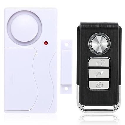 KKmoon Alarma de Puerta Sensor Magnético Inalámbrico Control Remoto Detector Ventana Seguridad para Hogar