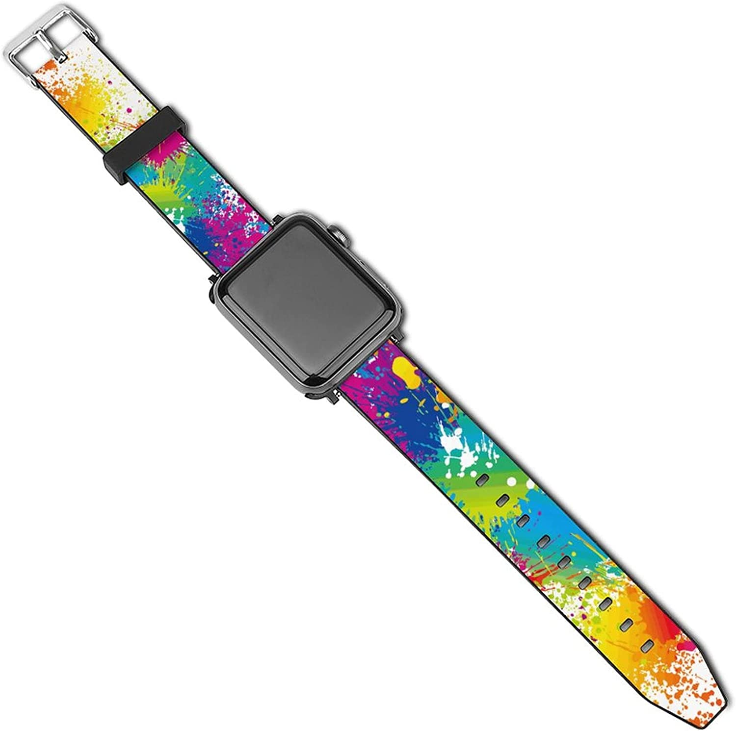 Sport Bands Compatible with Apple Watch Band Sport Bands Compatible with Apple Watch Band 38mm 40mm 42mm 44mm , iWatch 5 4 3 2 1 Series Leather Printed Strap Soft PU Watch Bands