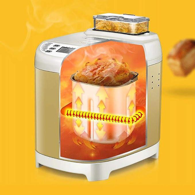 LJ-MBJ Compacto Multifunción Maquina para Hacer Pan, Casa Completamente automático Maquina de Pan, Dispensador de Frutas y Tuercas, Ajuste Libre de Gluten, ...