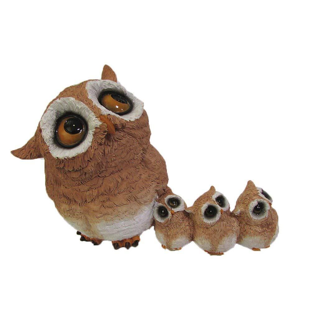 ARISLUX Decor New Year - Owl Animal Figurine Modern Crafts Home Decoration Accessories Miniature Garden Tabletop Shelves Ornament