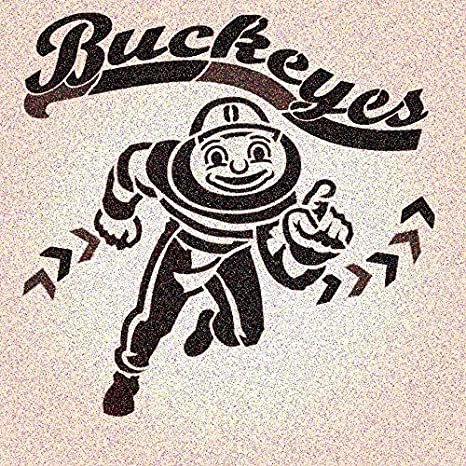 Amazon Com Ohio State Buckeyes Lil Guy College Stencil Sport Stencils