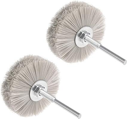 Utoolmart Nylon Wheel Brush 80 Grits Abrasive Grinding Head with 6mm Threaded Shank 1 Pcs