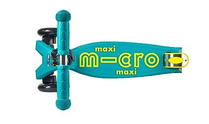 Micro Maxi Deluxe, Patinete 3 Ruedas, 5-12 Años, Carga Máx 70kg, Peso 2,5kg (Turquesa)
