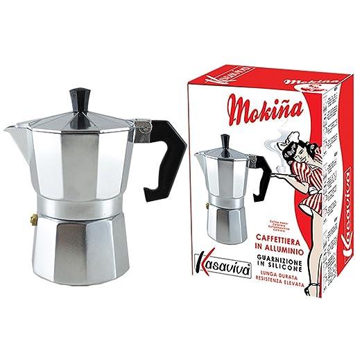 Moka Cafetera de Café Con 3 Tazas Aluminio Kasaviva Junta de ...