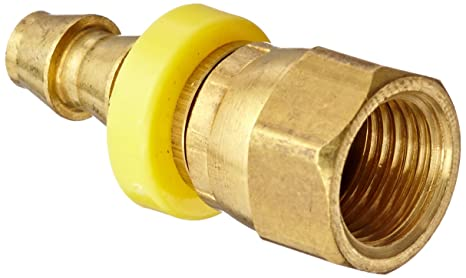 1//2 Barb x 1//2 Dual Seat Flare 1//2 Barb x 1//2 Dual Seat Flare 07210-0808 Connector Anderson Metals Brass Push-On Swivel Hose Fitting