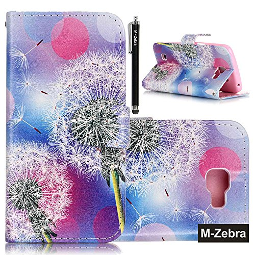 LG K4 Case, LG Spree Case, LG Optimus Zone 3 Case, M-Zebra LG K4 Wallet Case [Wallet Function] Flip Cover Leather Case for LG K4 , with Screen Protectors+Stylus (Dandelion)