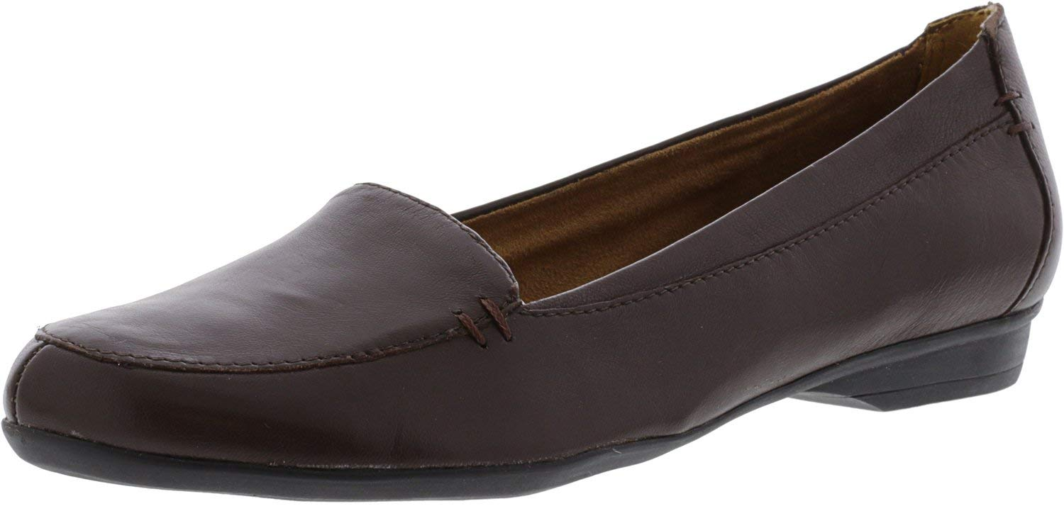 Naturalizer Women's Saban Bridal Brown Leather Flat Shoe - 7.5N