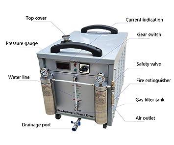 Baoshishan Oxígeno Generador de hidrógeno Agua Soldador Commercial Llama Pulido Máquina 220V (800W 250L): Amazon.es: Bricolaje y herramientas