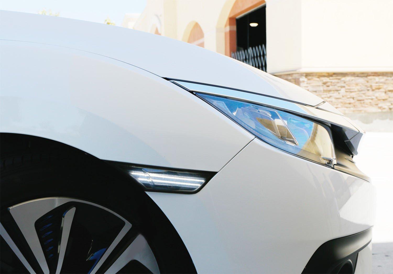 3D LOOK LED Side Marker Lights Fit 2016-2018 Honda Civic Sedan//Coupe//Hatchback smoke