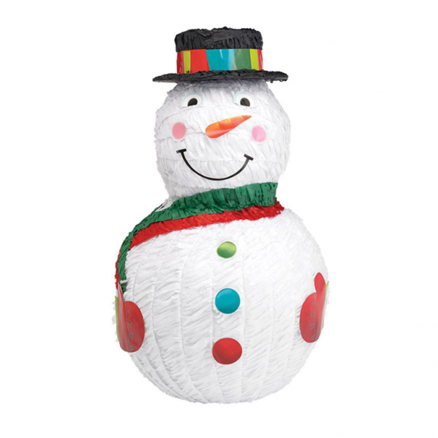 Snowman Shaped 17in x 11 1/2in Pinata