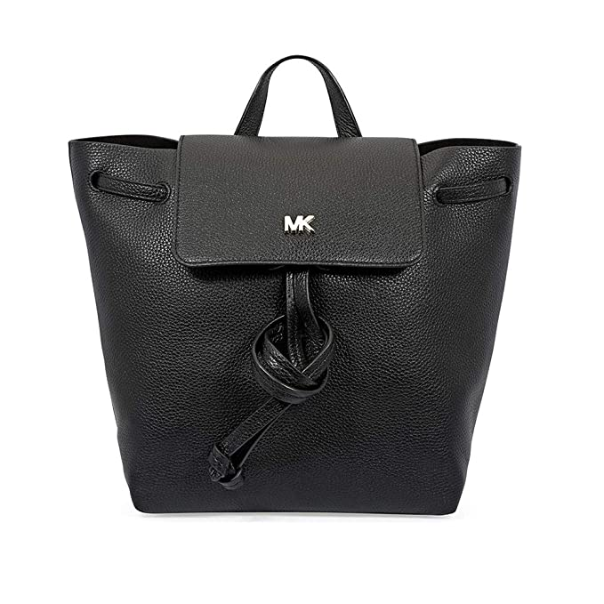 53b350459d45 Michael Kors Womens Junie Backpack Handbag Black (Black)