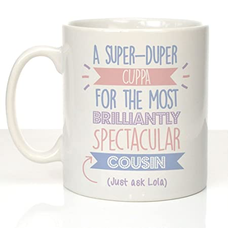 Just Ask Mug Cousin Gifts For Her Birthday Presents Amazoncouk Kitchen Home