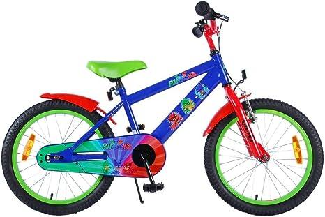 Bicicleta Niño PJMASKS 18 Pulgadas Azul Rojo Verde: Amazon.es ...