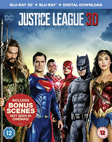 Justice League -[Blu-ray 3D + Blu-ray Digital Download] [2017]