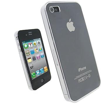 igadgitz - Carcasa rígida de Cristal para Apple iPhone 4 HD ...