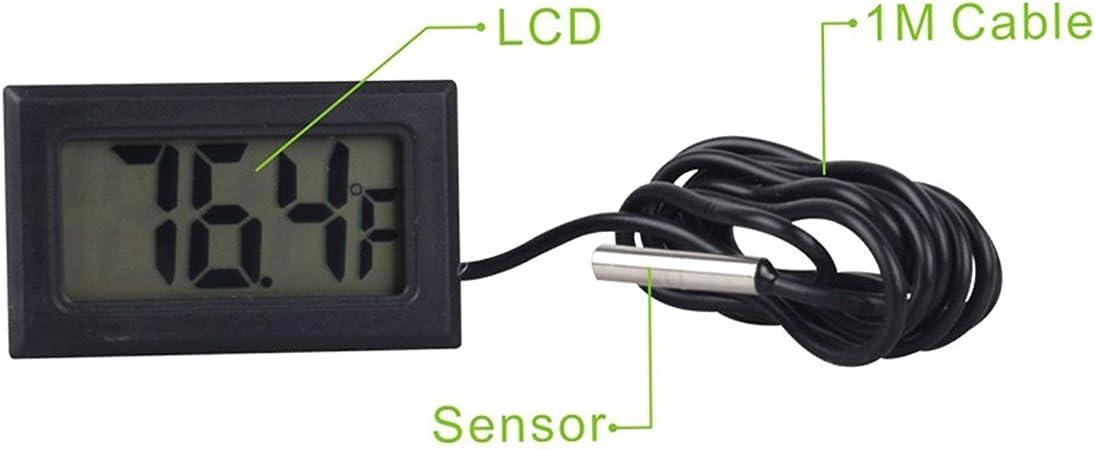 WINGONEER 3Pcs Monitor de Temperatura Digital LCD Termómetro con ...